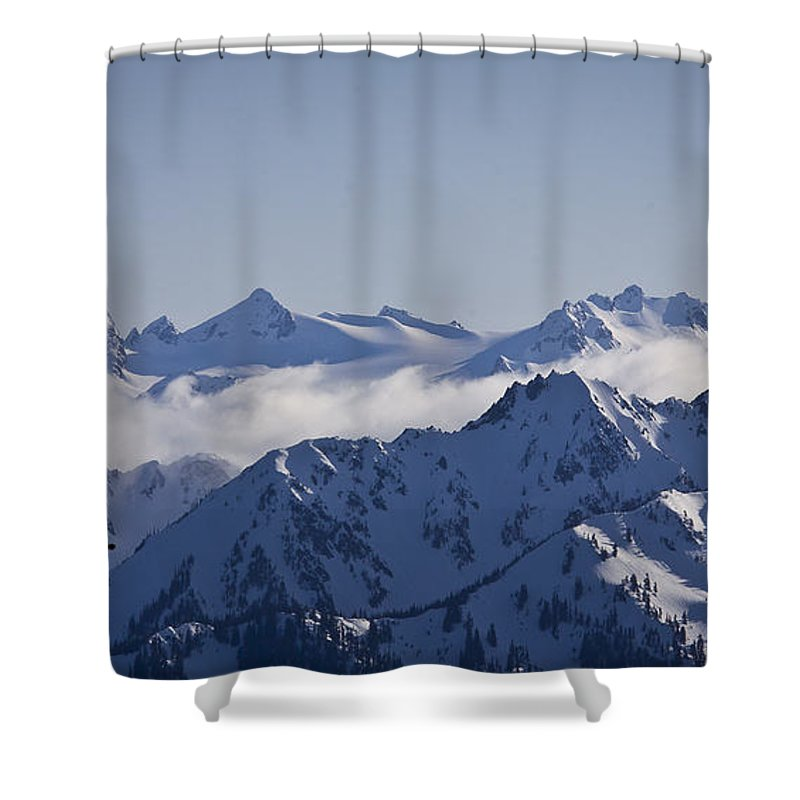 Mt Olympus Shower Curtain featuring the photograph The Olympics by Albert Seger