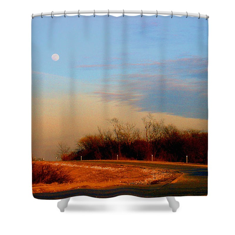 Landscape Shower Curtain featuring the photograph The On Ramp by Steve Karol