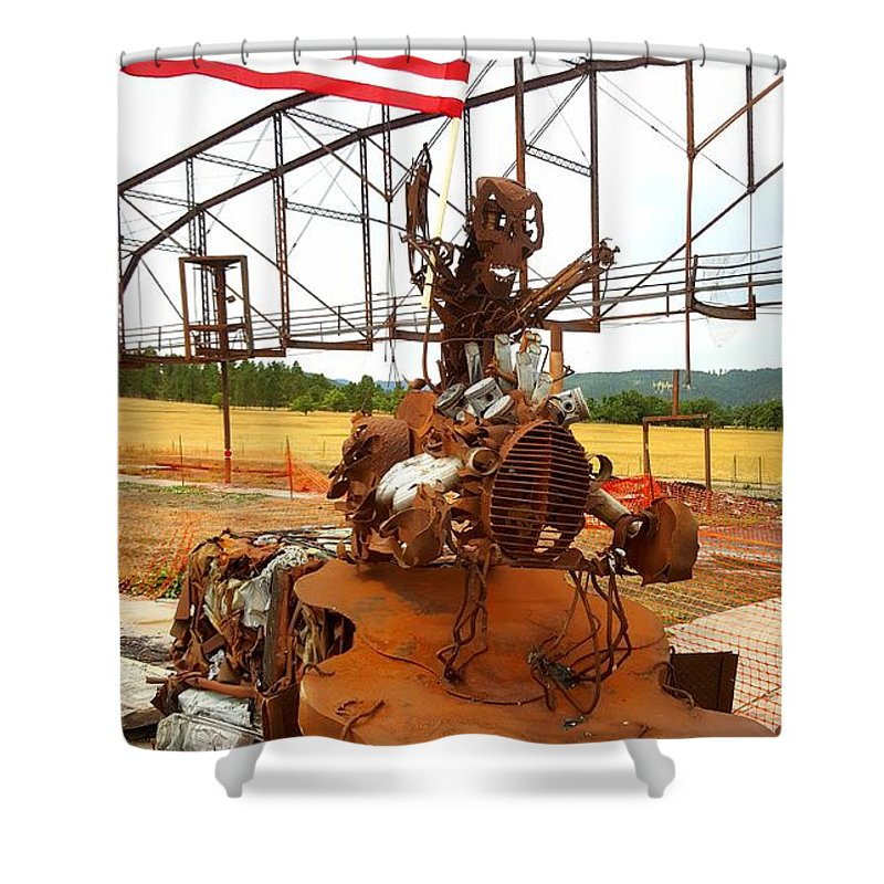 Shower Curtain featuring the photograph The Origional Full Throttle Saloon by Tony Culpepper