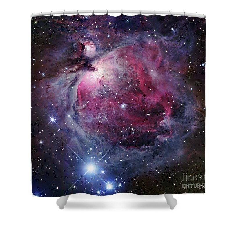 Astronomy Shower Curtain featuring the photograph The Orion Nebula by Robert Gendler