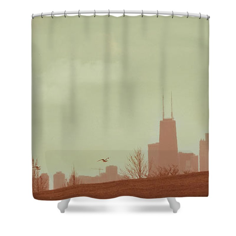 Beach Shower Curtain featuring the photograph The Other Side Of Fate by Dana DiPasquale