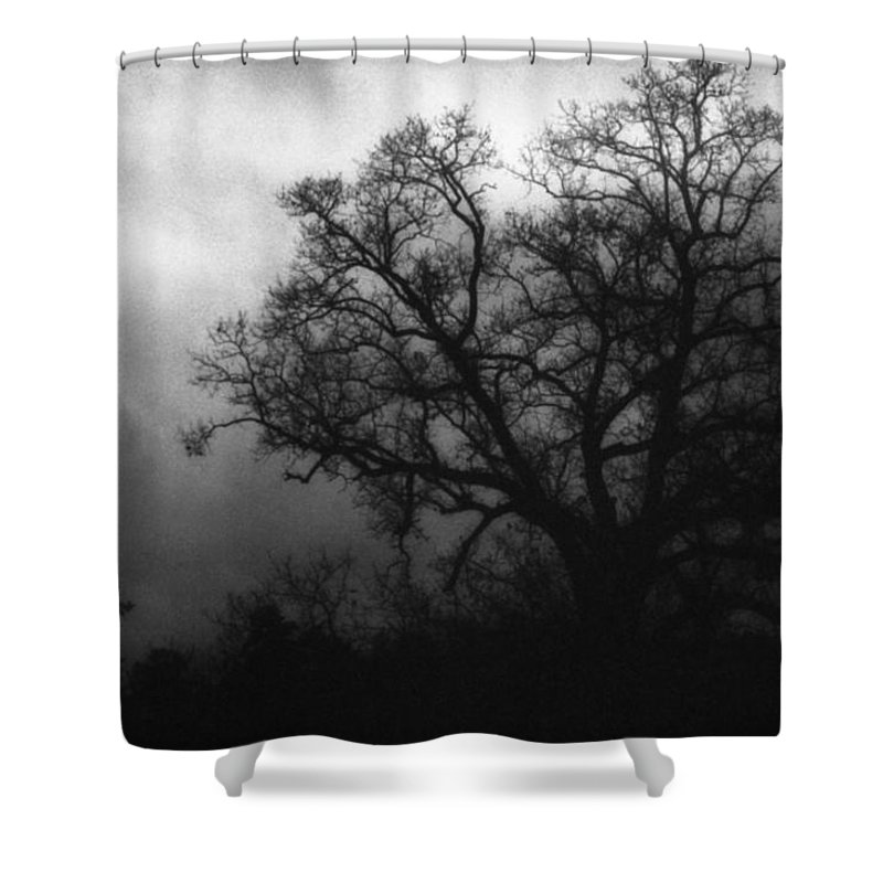 Eerie Shower Curtain featuring the photograph The Other Side by Richard Rizzo