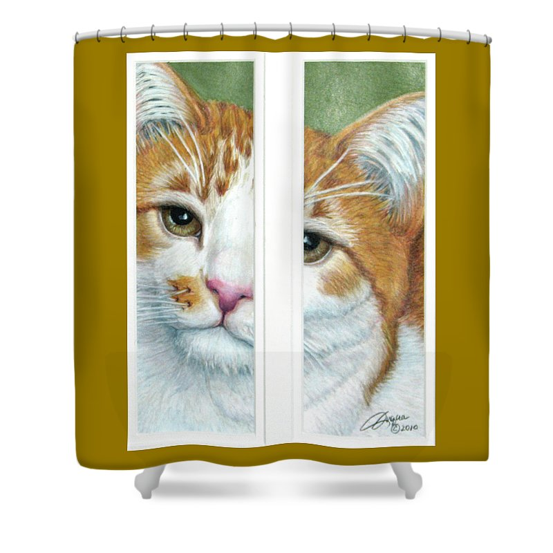 Fuqua - Artwork Shower Curtain featuring the drawing The Otherside by Beverly Fuqua