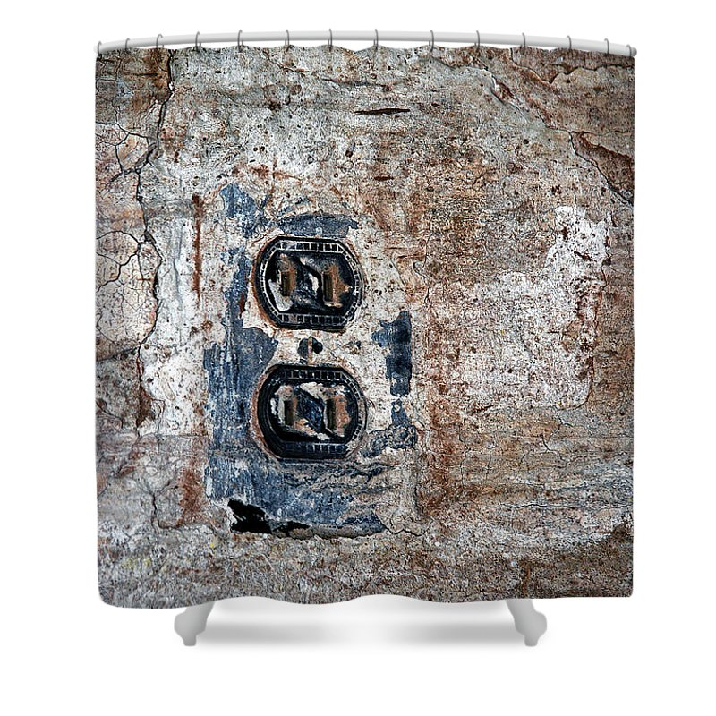 Old Shower Curtain featuring the photograph The Outlet by D'Arcy Evans