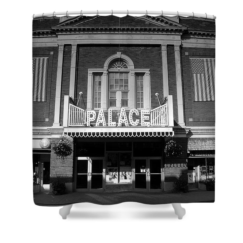 Palace Theater Shower Curtain featuring the photograph The Palace by David Lee Thompson