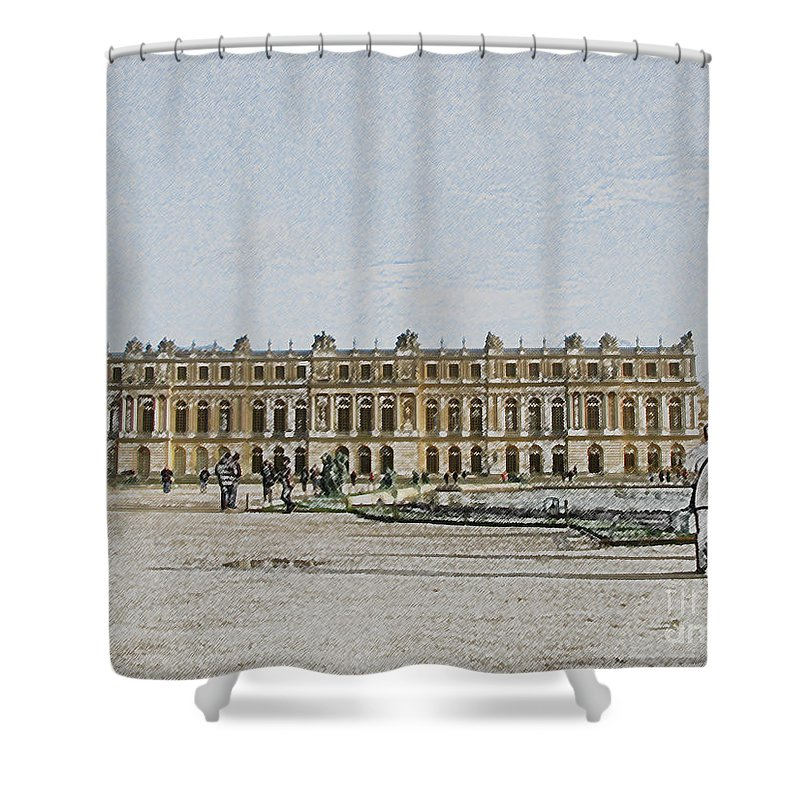 Palace Shower Curtain featuring the photograph The Palace Of Versailles by Amanda Barcon