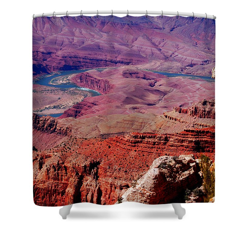 Grand Canyon Shower Curtain featuring the photograph The Path Of The Colorado River by Susanne Van Hulst