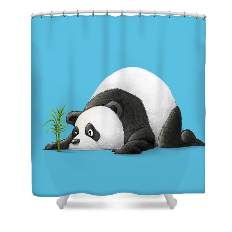 Panda Shower Curtain Featuring The Digital Art Patient By Michael Ciccotello