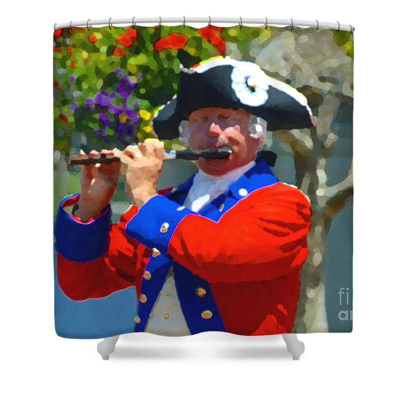 Patriot Shower Curtain featuring the photograph The Patriot by David Lee Thompson