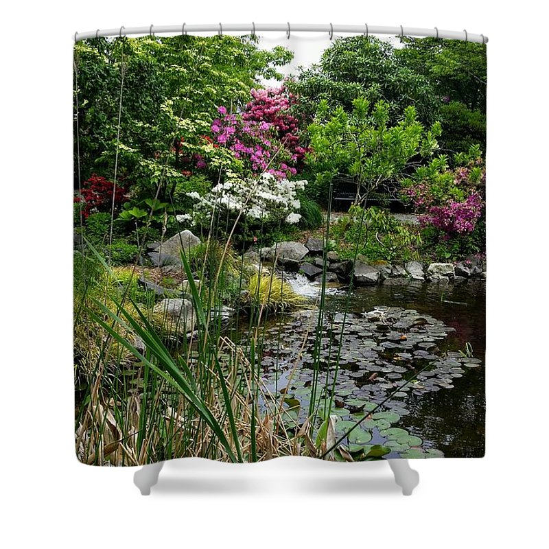 Botanical Flower's Nature Shower Curtain featuring the photograph The peaceful place 13 by Valerie Josi