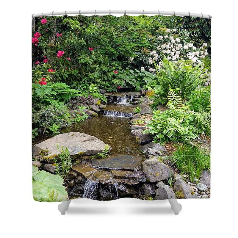 Botanical Floral Nature Shower Curtain featuring the photograph The peaceful place 3 by Valerie Josi