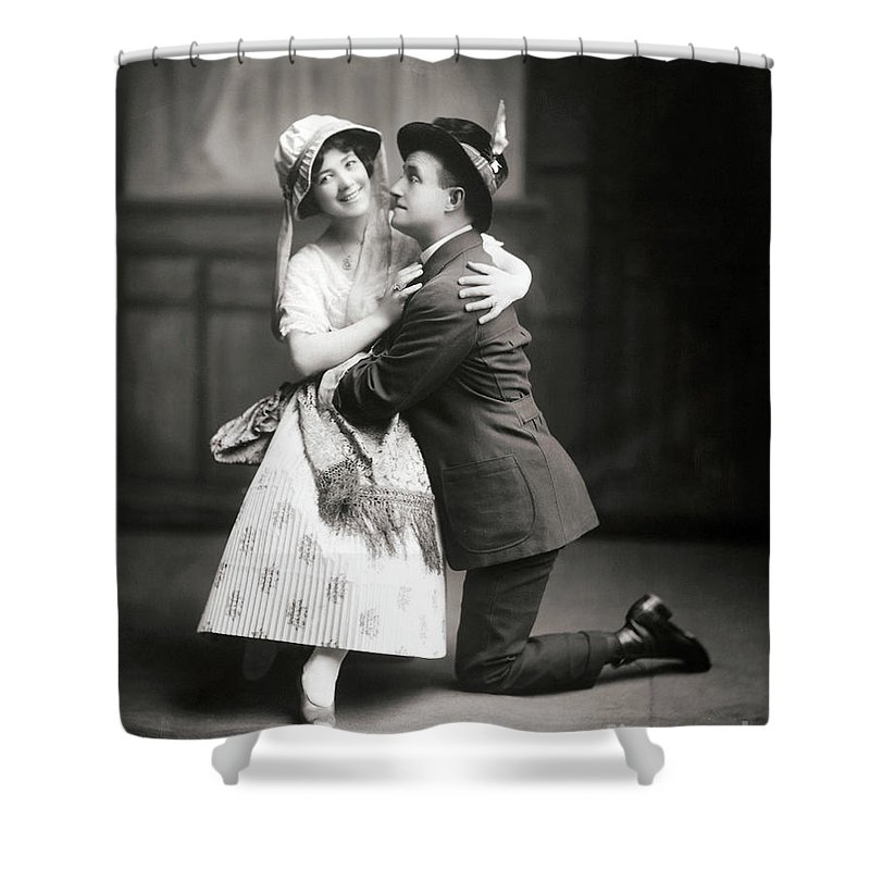 1915 Shower Curtain featuring the photograph The Peasant Girl, 1915 by Granger