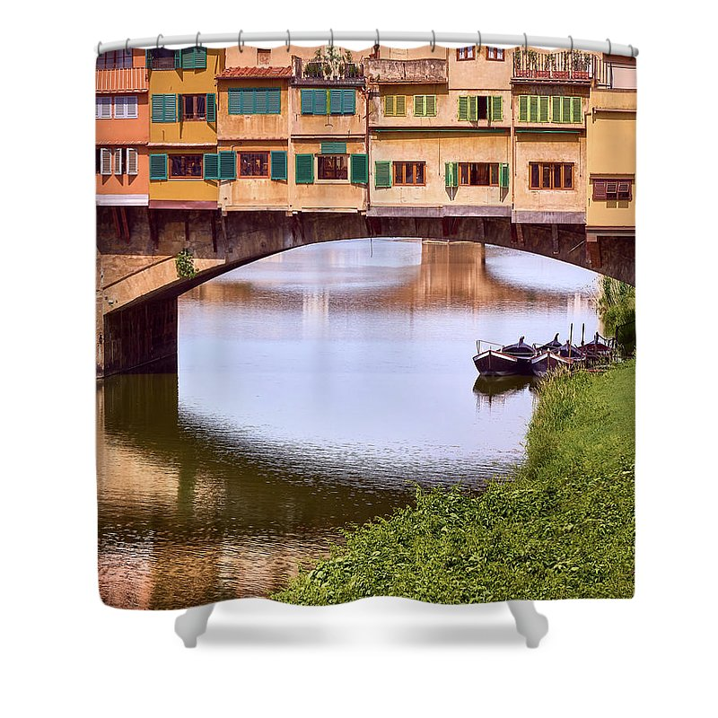 Shower curtain for your bathroom with image of Florence