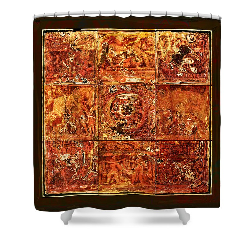 Bangladesh Shower Curtain featuring the digital art The Pieces Of Heritage by Rabi Khan