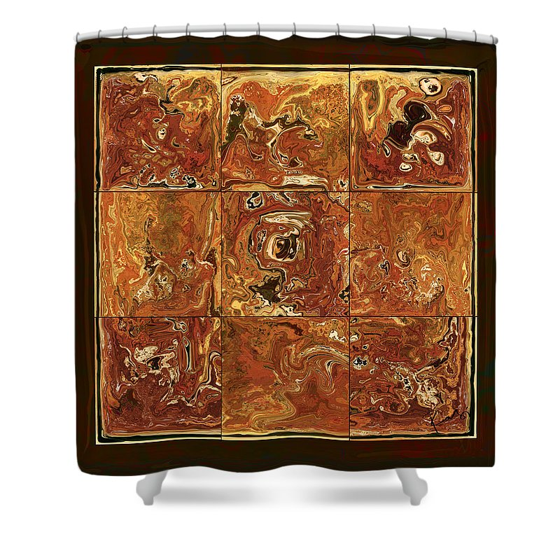 Abstract Shower Curtain featuring the digital art The Pieces by Rabi Khan