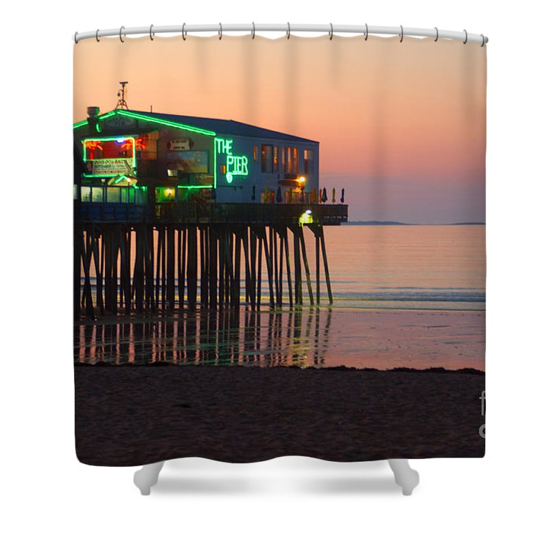 Pier Shower Curtain featuring the photograph The Pier by Ray Konopaske