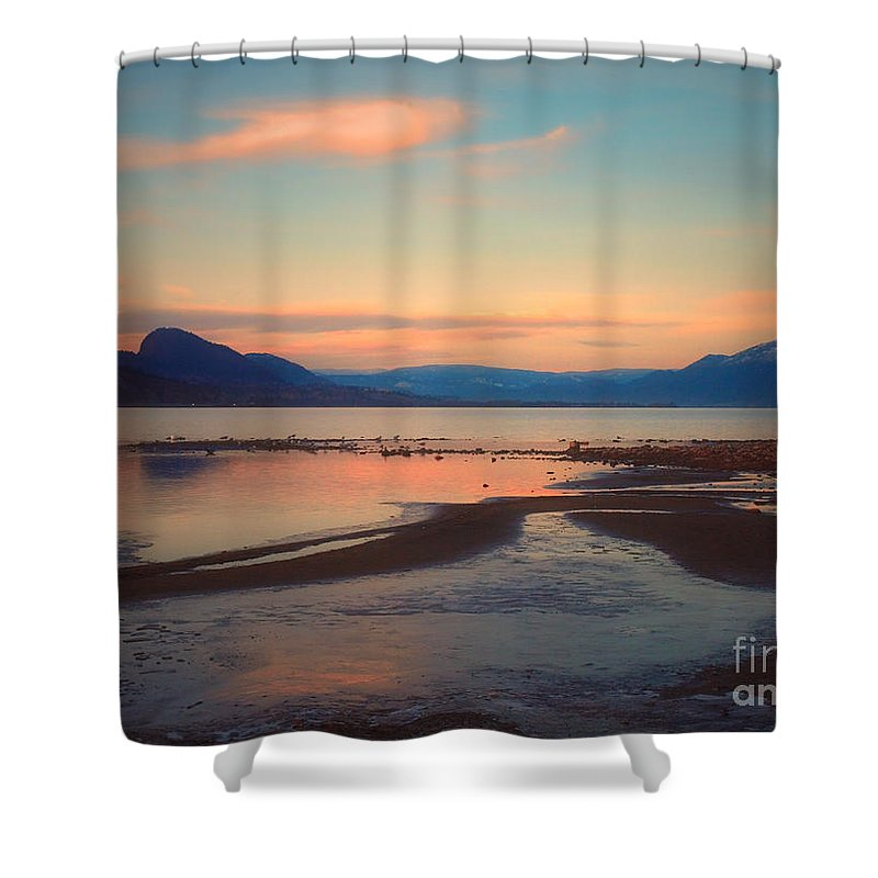 Clouds Shower Curtain featuring the photograph The Pink Clouds Of January by Tara Turner