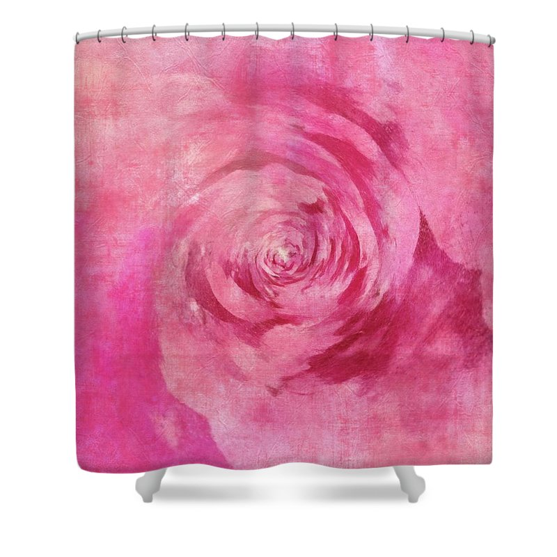 Flowers Shower Curtain featuring the painting The Pink Lady 5 by Jamie Holbrook