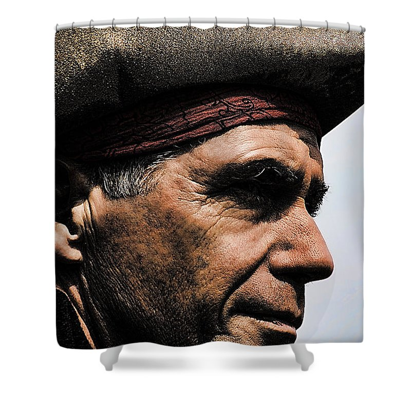Pirate Shower Curtain featuring the photograph The Pirate by David Patterson