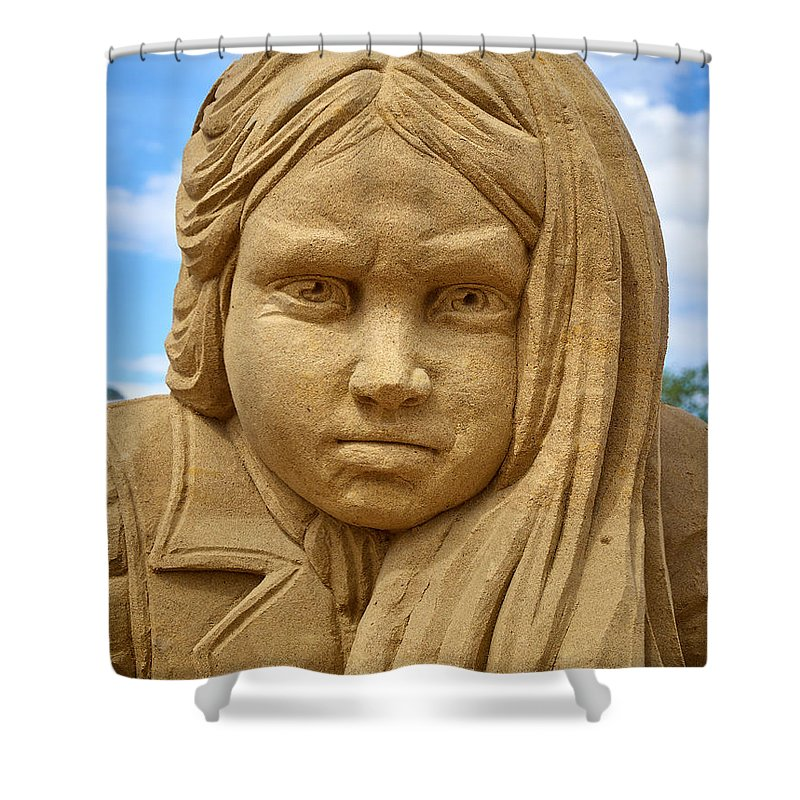 Finland Shower Curtain featuring the photograph The Playing Girl by Jouko Lehto