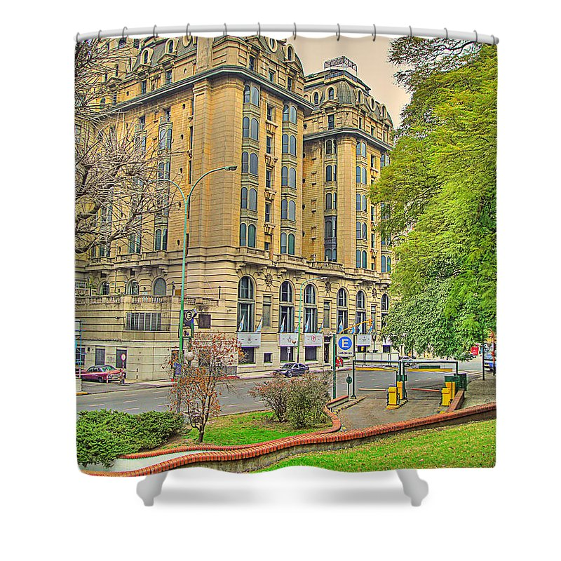 Hotel Shower Curtain featuring the photograph The Plaza by Francisco Colon