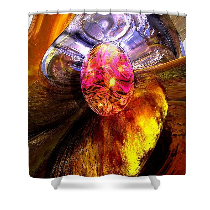3d Shower Curtain featuring the digital art The Pleasure Palace by Alexander Butler