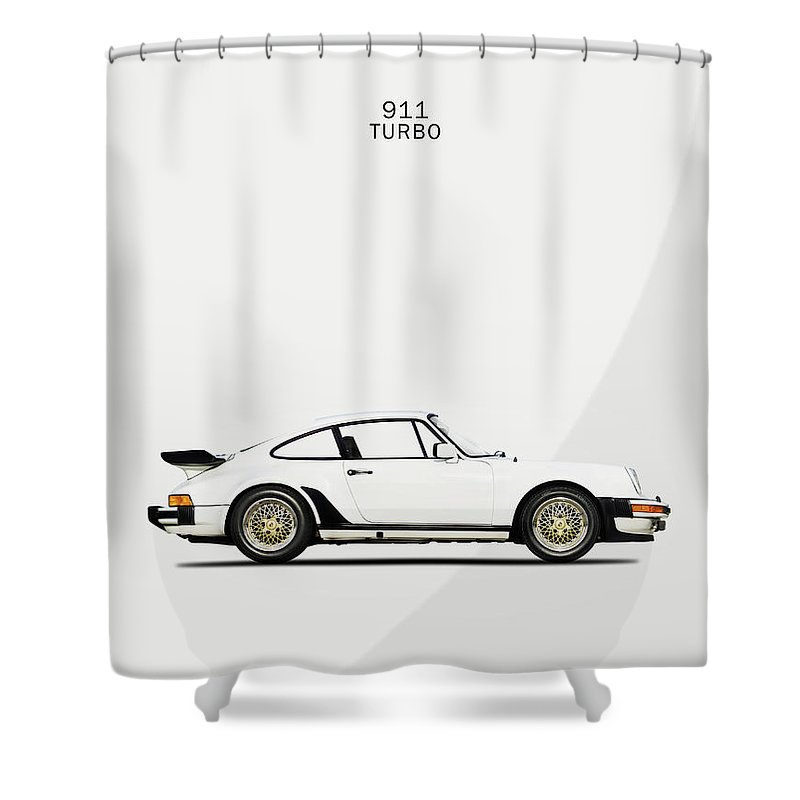Porsche 911 Turbo Shower Curtain featuring the photograph The Porsche 911 Turbo by Mark Rogan