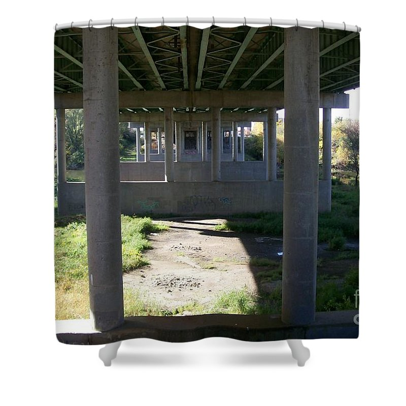 Landscape Shower Curtain featuring the photograph The Portal by Stephen King