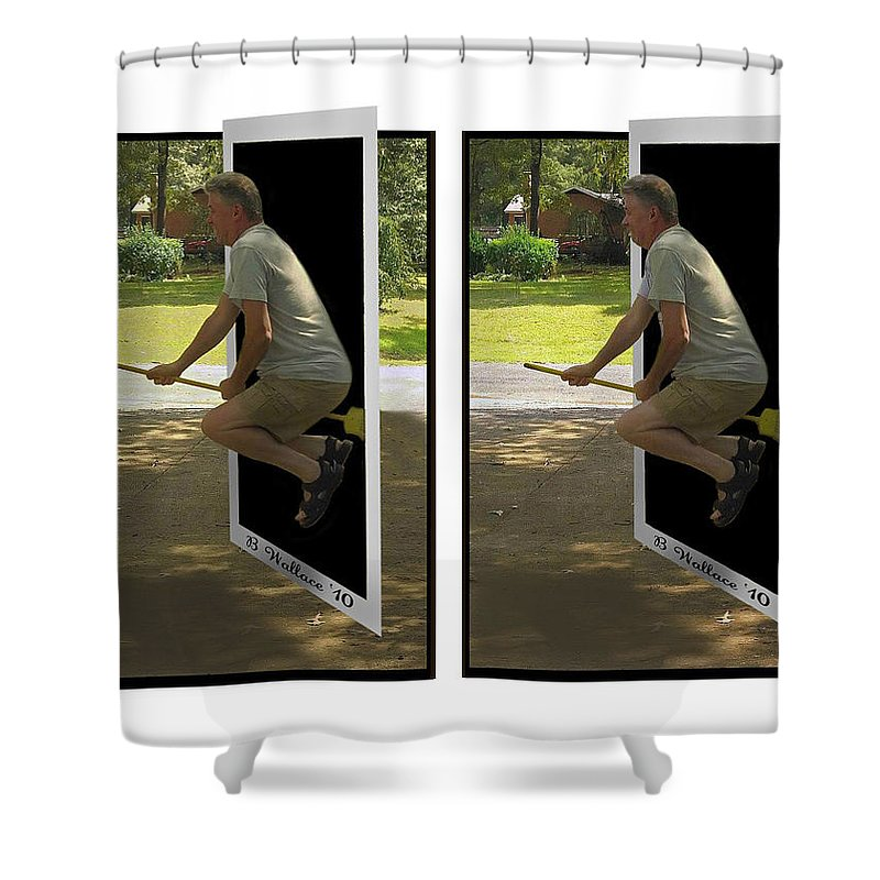2d Shower Curtain featuring the photograph The Potter Effect - Gently Cross Your Eyes And Focus On The Middle Image by Brian Wallace