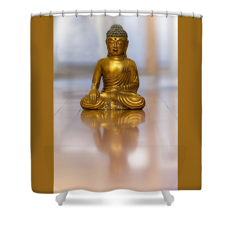 Buddha Shower Curtain featuring the photograph The Problem Is You Think You Have Time. by Valerie Rosen