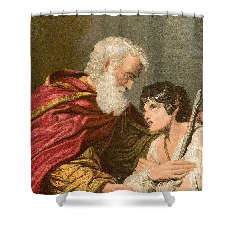 Prodigal Shower Curtain featuring the painting The Prodigal Son by Lionello Spada