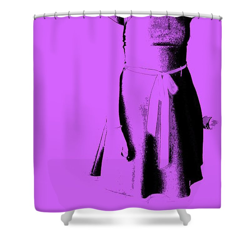 Dress Shower Curtain featuring the photograph The Purple Dress by Ed Smith
