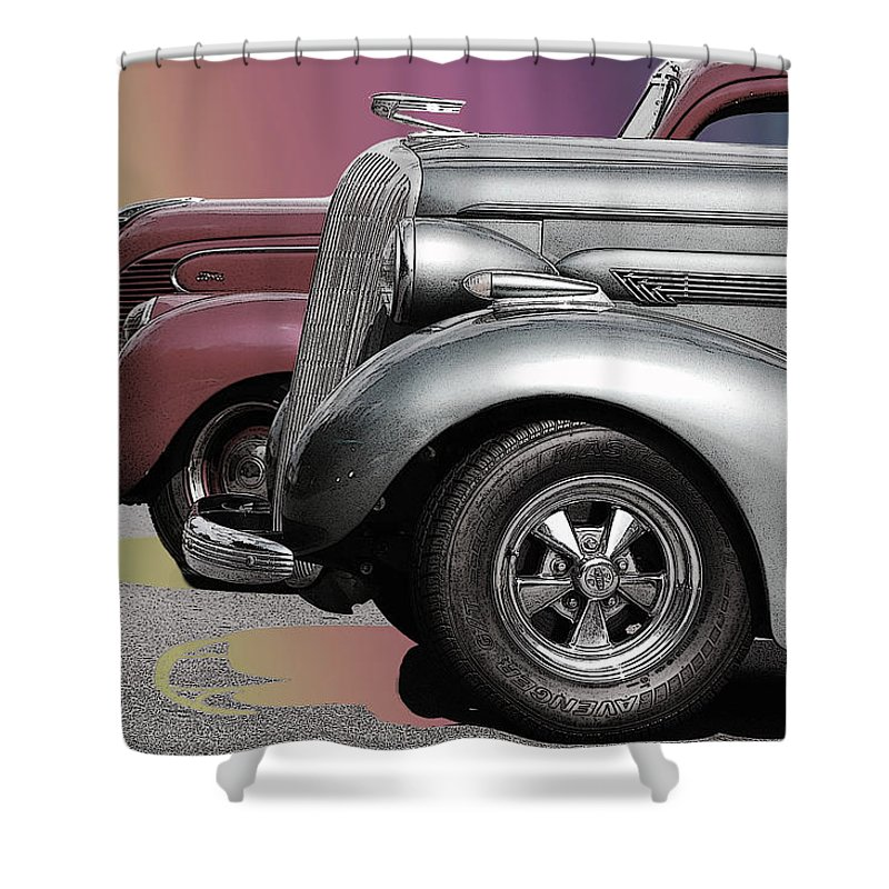 The Race Shower Curtain featuring the photograph The Race by Robert Meanor