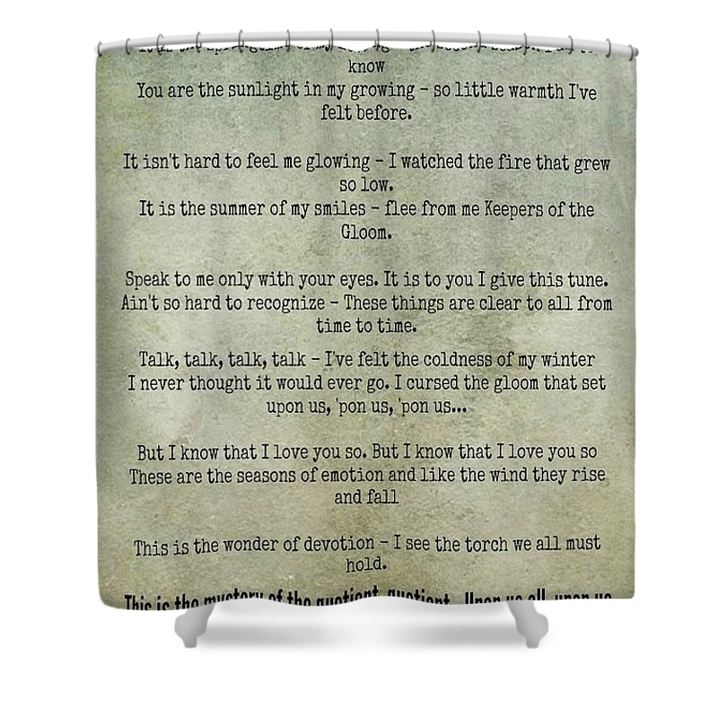 Shower Curtain Featuring The Photograph Rain Song Led Zeppelin By David Norman