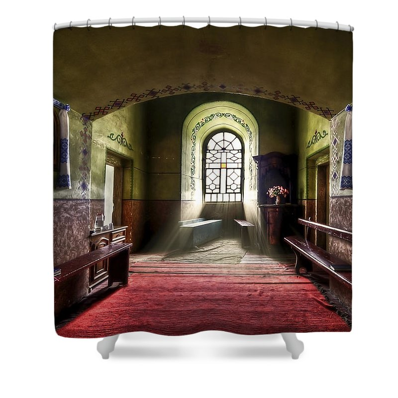 Church Shower Curtain featuring the photograph The Reading Room by Evelina Kremsdorf