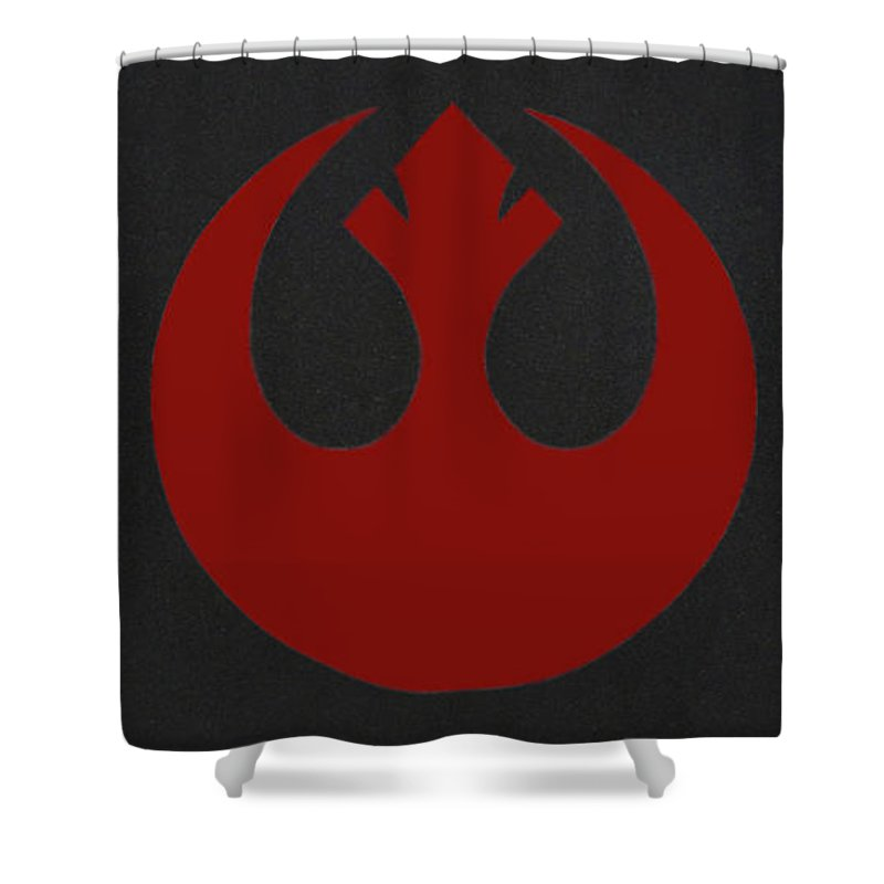 Star Wars Shower Curtain featuring the digital art The Rebel Phoenix by Aaron Beaty