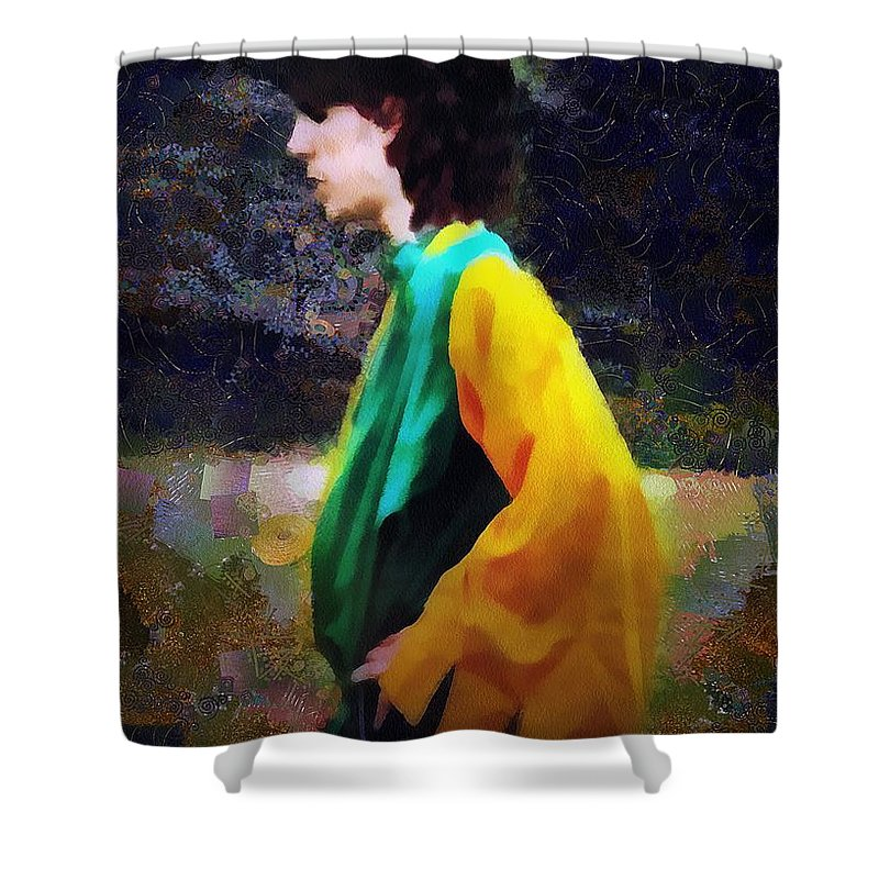Building Shower Curtain featuring the painting The Rejected Suitor by RC DeWinter