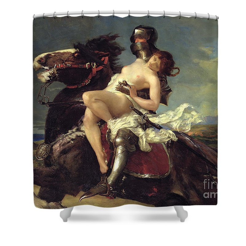 Damsel In Distress Shower Curtains