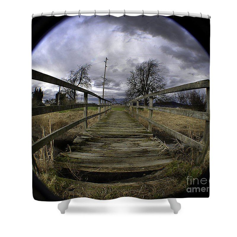 Art Shower Curtain featuring the photograph The Rickity Bridge by Clayton Bruster