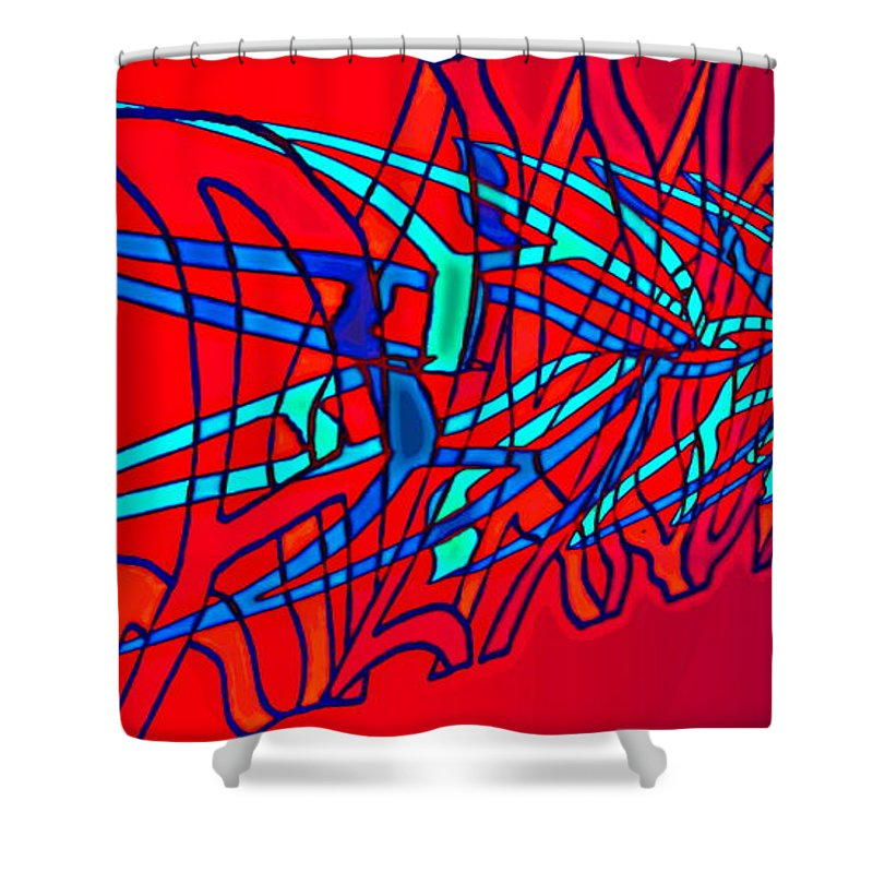 C2 Shower Curtain featuring the digital art The Risc Of Alcohol by Helmut Rottler