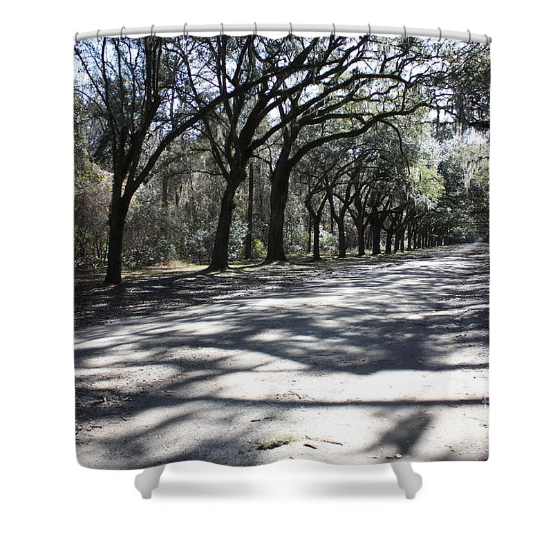 Road Shower Curtain featuring the photograph The Road Home by Carol Groenen