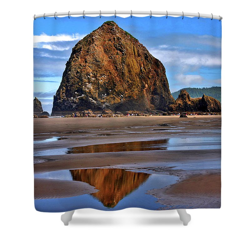 Oregon Shower Curtain featuring the photograph The Rock by Scott Mahon