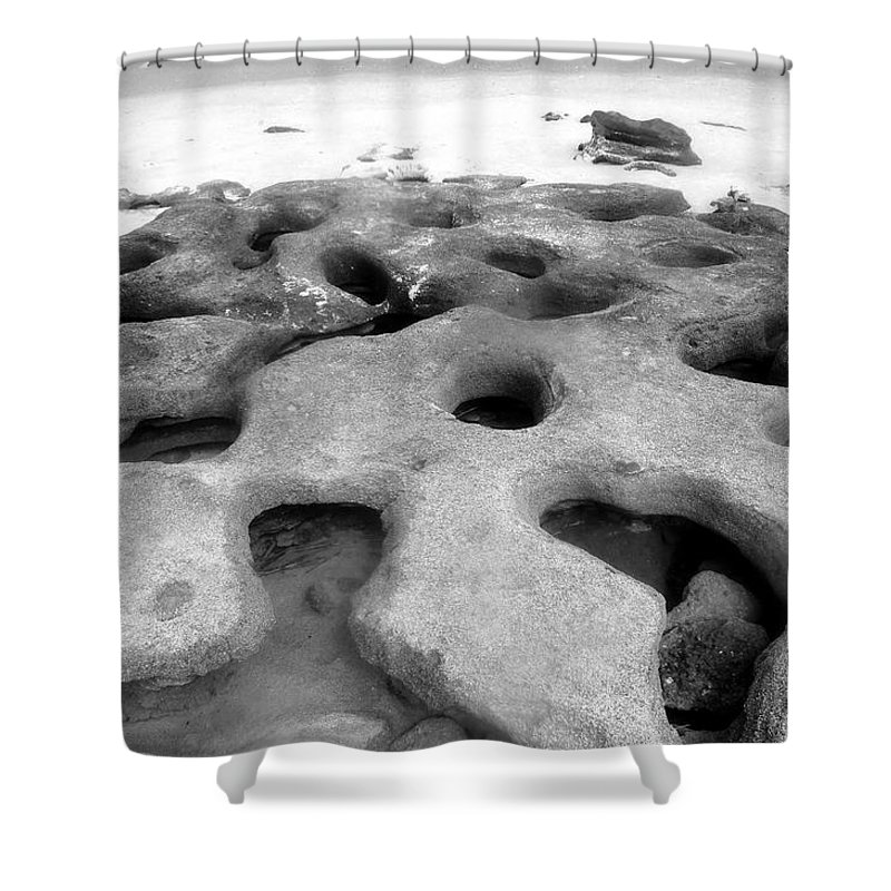 Florida Shower Curtain featuring the photograph The Rocks by David Lee Thompson