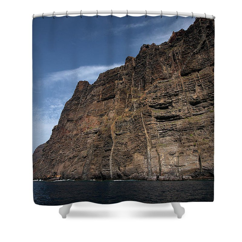 Valasretki Shower Curtain featuring the photograph The Rocks Of Los Gigantes 1 by Jouko Lehto