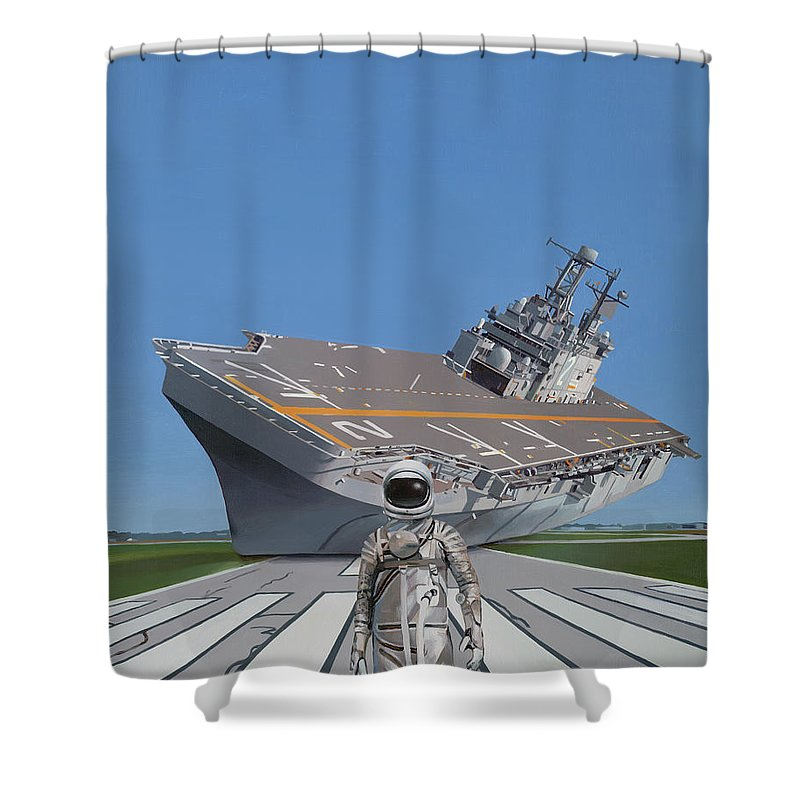 Science Fiction Paintings Shower Curtains