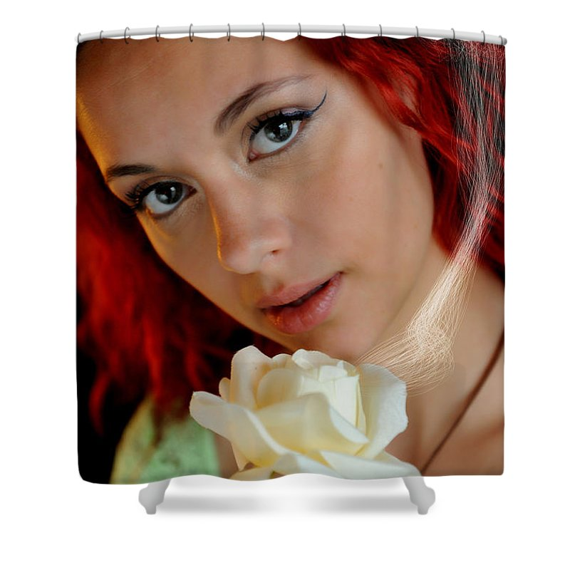 Courtney Shower Curtain featuring the photograph The Scent by Bill Munster