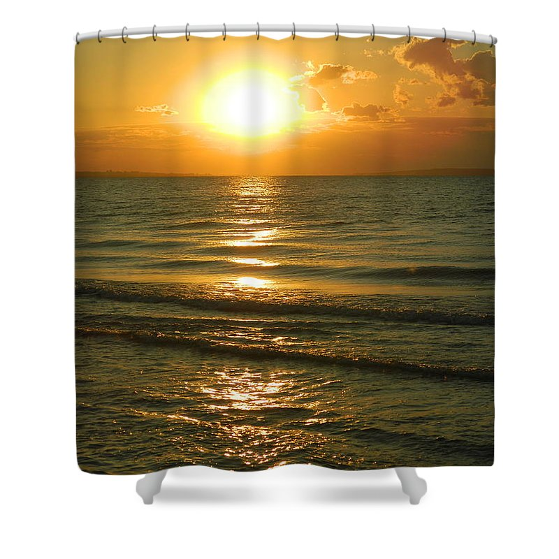 The Crimea Shower Curtain featuring the photograph The Sea Of Azov by Bublikov Yury