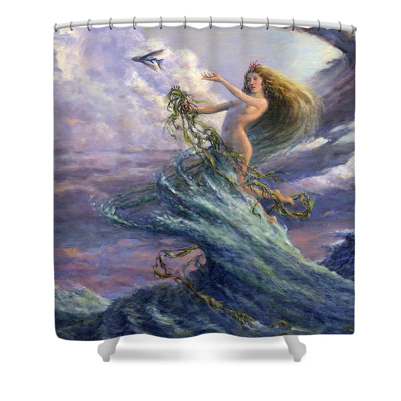 Mermaid Shower Curtain featuring the photograph The Storm Queen by Richard Hescox