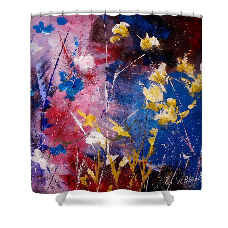 Acrylic Shower Curtain featuring the painting The Season Of Singing Has Come by Ruth Palmer