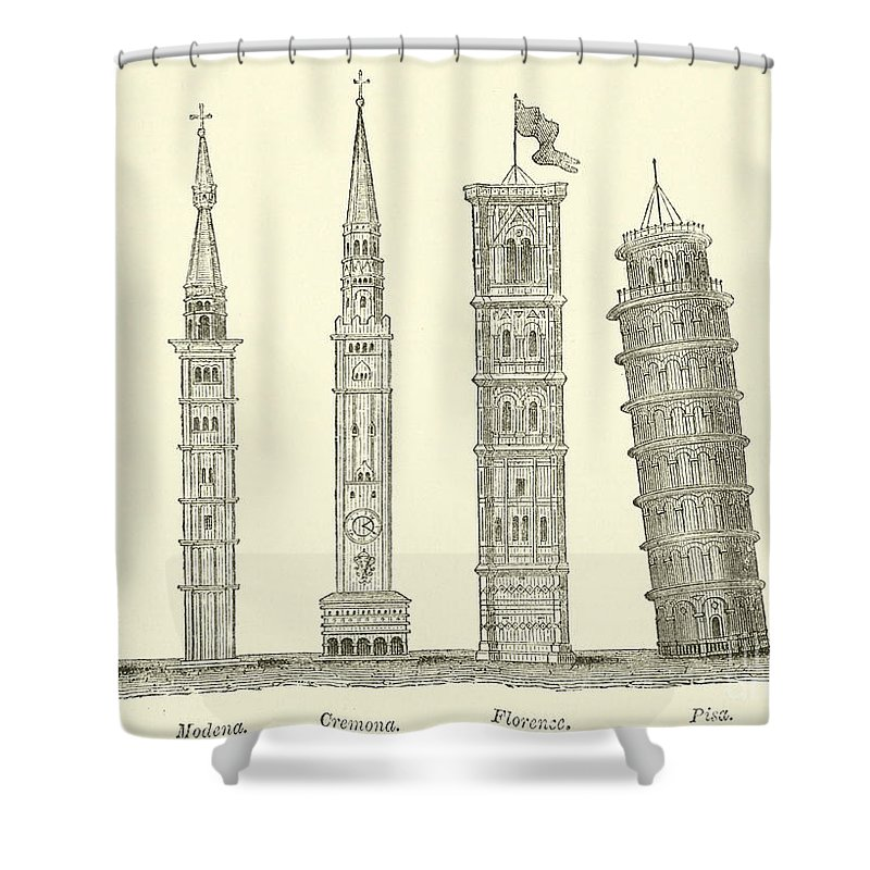Italy Drawings Shower Curtains
